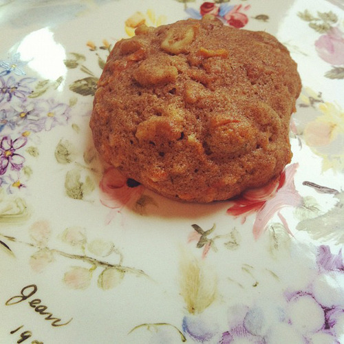 This week's cookie: Carrot Cake Cookies, sans frosting, for Logan's May Day package.