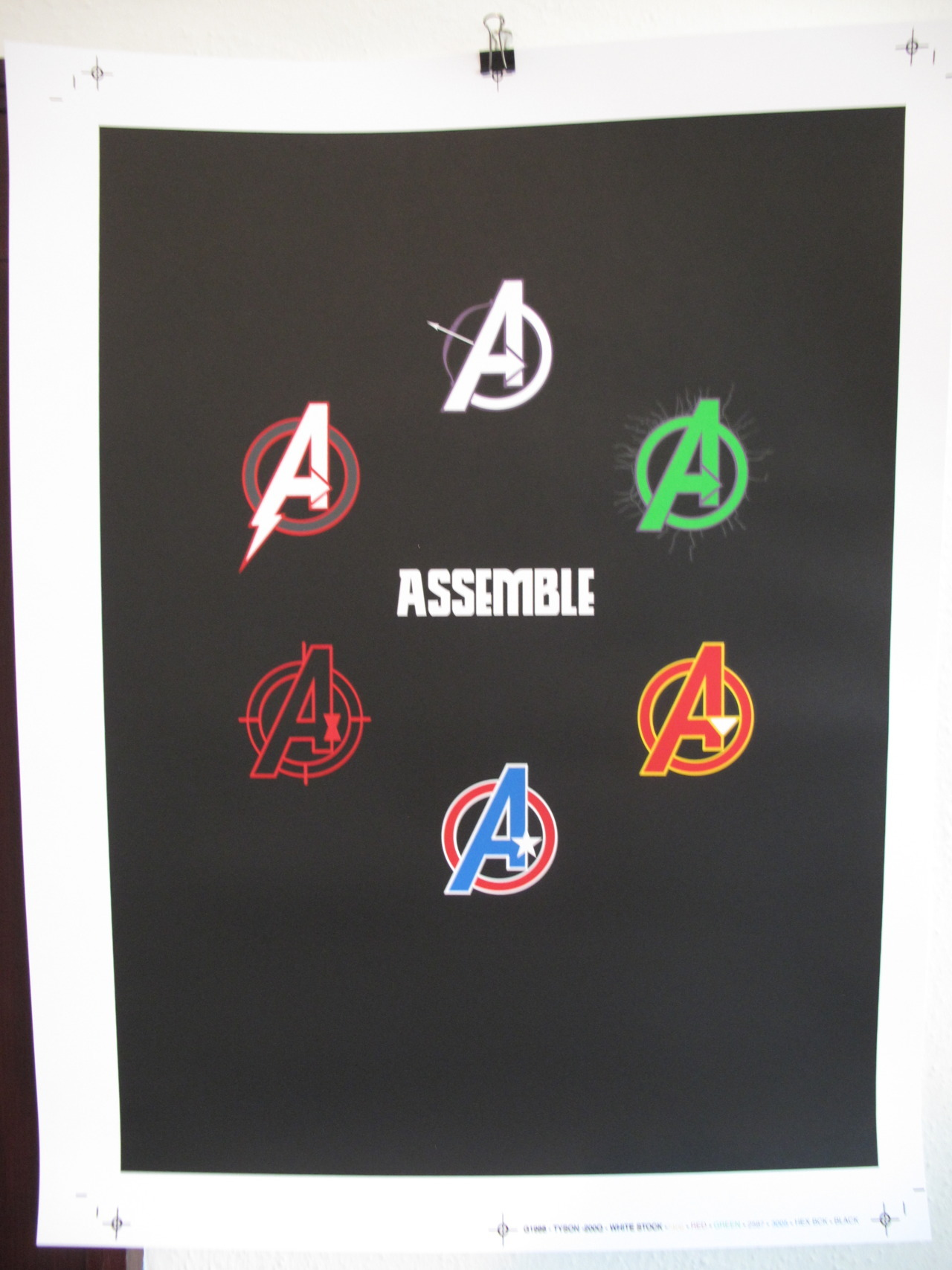 """ASSEMBLE"" BY MATT OWEN FOR GALLERY 1988'S ""ASSEMBLE"" SHOW ON MAY 3RD 7 COLORS 18"" X 24"" COUGAR 100LB. COVER IN WHITE"