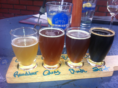 Hanging out this weekend in the Outer Banks of North Carolina. Flight of beers at Full Moon Cafe in Manteo, NC.