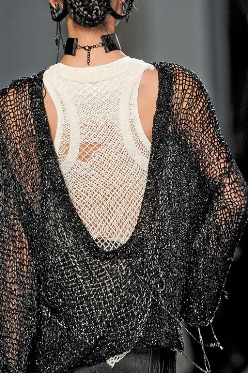 Knit details from Jean Paul Gaultier Spring 2011