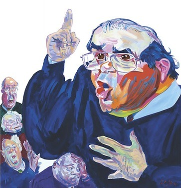"Just how little does Justice Scalia know about immigration policy? ""One of the reasons that Washington's approach to immigration—unlike Arizona's—is so complicated is that federal policymakers need to take account of geopolitical considerations when deciding which undocumented immigrants to target for deportation. Donald Verrilli, Obama's solicitor general, said as much, arguing that a maximal approach to immigration enforcement could create problems for U.S. relations with Mexico. ""So we have to enforce our laws in a manner that will please Mexico?!"" Scalia protested. But that's a rather unfair way of describing Washington's decision-making process on immigration. Of course geopolitical considerations are—and should be—taken into account when the federal government makes immigration policy. "" - Nathan Pippenger, Scalia Reveals How Little He Knows About Immigration Policy Photo courtesy of The New Yorker"