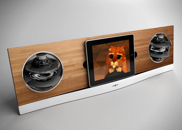 The Jarre AeroPad Two - Bamboo iPad Dock