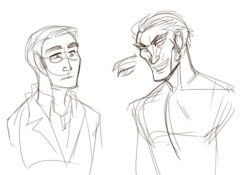 These definitely aren't designs of Megatronus and Orion Pax for a short comic that I definitely am not drawing.  Don't look at me like that.