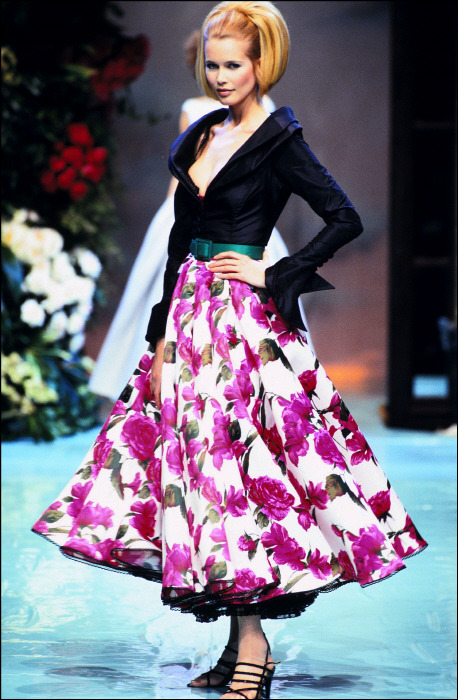 supermodelshrine:  Claudia for Christian Dior, s/s 1996