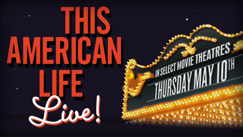 "This American Life is coming to a theater near you! On Thursday, May 10th, 2012, Ira Glass and friends will perform an episode of ""This American Life"" on stage at NYU's Skirball Center for the Performing Arts in NYC, and send it live via satellite to more than 500 movie theaters across the country. The show will feature stories by Ira Glass, writers David Sedaris and David Rakoff, comic Tig Notaro and ""Snap Judgment"" host Glynn Washington, and live music by OK Go. Also included in the show: a new short film by Mike Birbiglia, dance by Monica Bill Barnes & Company, original animation, projected illustration and more. Plus special surprise guests. Show times and tickets here."