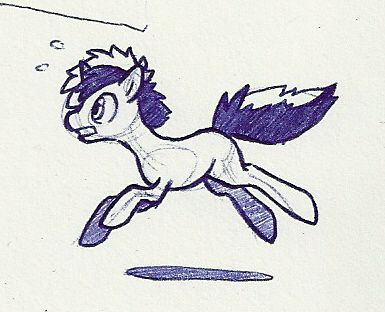 I drawed Able but he turned into a pony, oops…