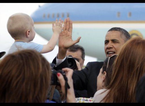 Coolest Pres. Ever: Yeah, I'll high 5 your baby.
