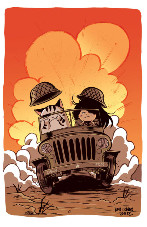 emilenox:  Exclusive limited EmiTown print for Stumptown Comics Fest! Just like the last con, there are only 5! So come to the show and pick up yours!…if you want one.