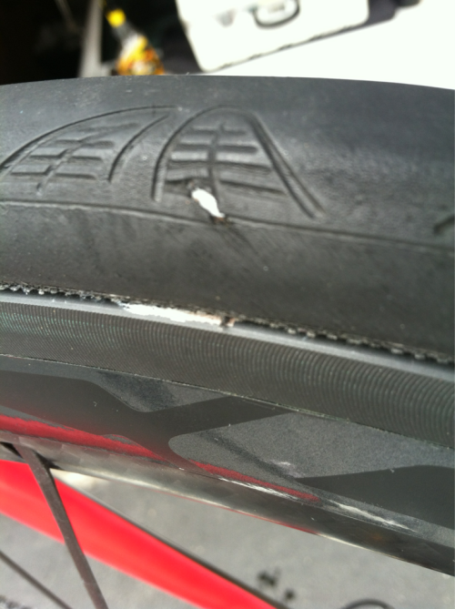 Would you ride on this cut? Gorilla Tape is the grey color inside the tire. The tube is not bubbling out or deforming the tire (I know it looks like it). I just despise throwing out a tire when it's not anywhere NEAR worn out just because of a little cut!