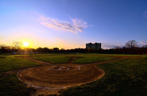 Baseball Sunset - New Brunswick So this is my first attempt at an HDR image and I think it came out really good.  In my opinion an HDR photo should not actually look like it is HDR, which I think applies to this picture.