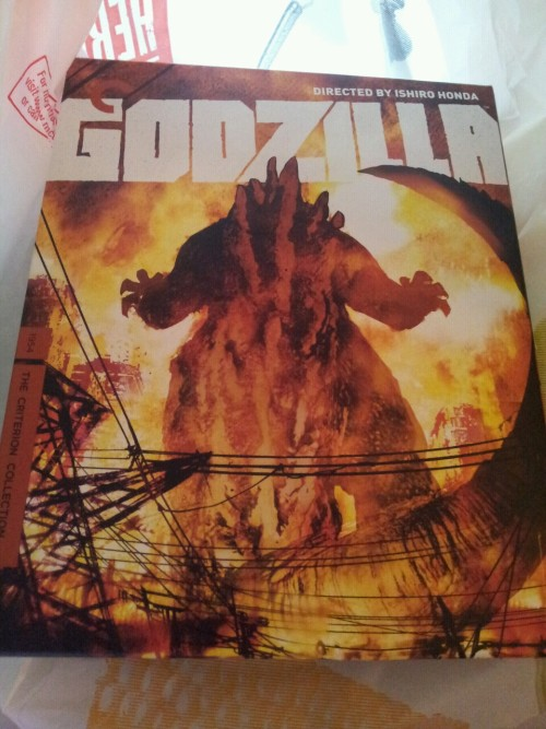 Got this in the mail today. The original Japanese 1954 Godzilla. It gets to join the rest of my Criterion Collection library.