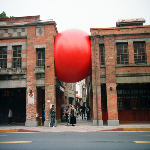 laughingsquid:  RedBall Project, A Giant Red Ball That Travels The World