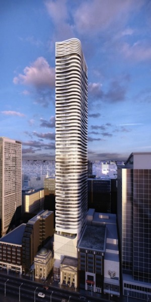 Massey Tower - Breathing new life into a historic site 60 Storey Tower to be designed by the AWARD WINNING architectural firm, Hariri Pontarini Architects is presented by MOD Developments located at 197 Yonge Street. The lobby and extensive amenities designed by internationally renowned interior design firm Cecconi Simone. LOCATION: Yonge and Dundas. The Massey Club will feature fitness and weight rooms with steam rooms, a piano bar, cocktail lounge, party rooms, kitchen and dining room that opens onto spectacular roof gardens designed by the acclaimed landscape architect Janet Rosenberg and Associates. Walking distance to Queen Subway Station, Opposite Toronto Eaton Centre, Close to Dundas Square, Ryerson University, City Hall and all major hospitals.