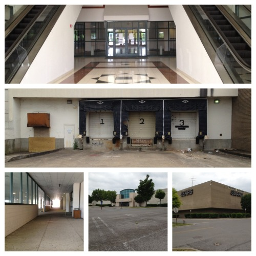 Vacant American mall. Sears is closing. What used to be the busiest mall in Nashville, Tennessee is now a ghost town of multimillion dollar glass and concrete and landscaping.