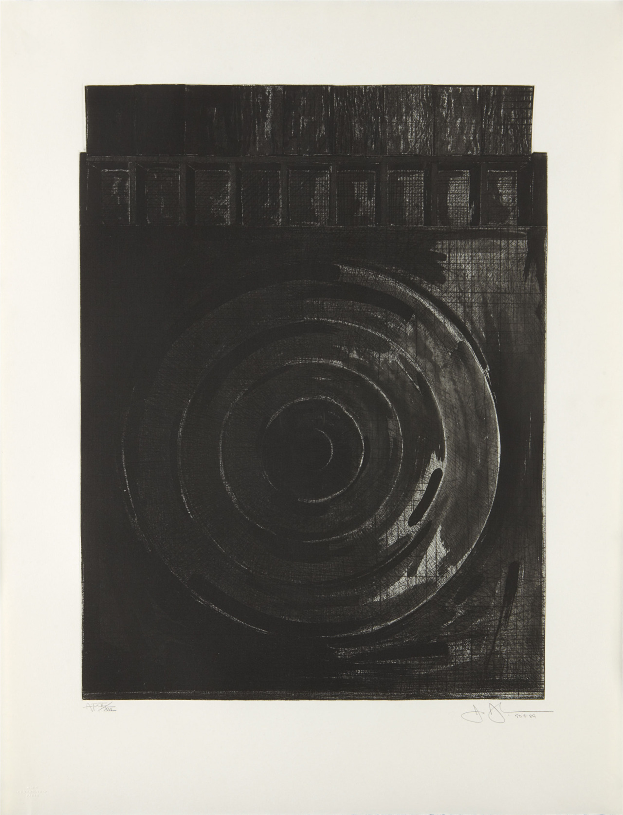 phillipsauction:  JASPER JOHNS | Target with Plaster Casts, 1990 | Etching, on German Etching paper Sold for $17,500 at the Evening Editions sale, 25 April 2012, New York.  not only is it brian eno's birthday today it's also mr johns…lets celebrate with this beautiful piece of his.