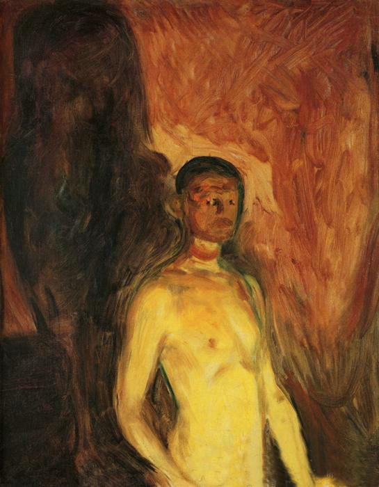 artistandstudio:  Edvard Munch, Self-Portrait in Hell, 1903