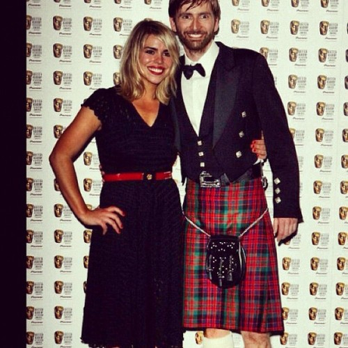 David Tennant (10th Doctor Who) in a kilt at the 2006 BAFTA #kilt #DoctorWho (Taken with instagram)