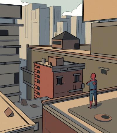 timetravelandrocketpoweredapes:  Perspective and Spider-Man by karioks