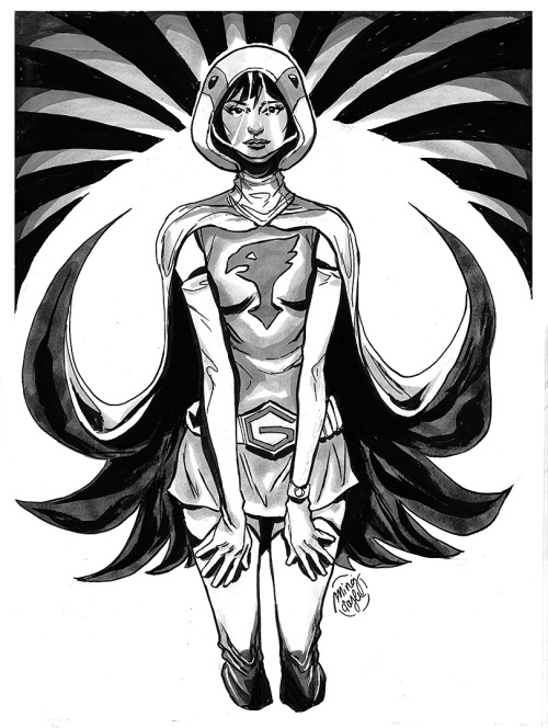 mingdoyle:  Boston Comic Con pre-commission, Jun the Swan from Gatchaman.