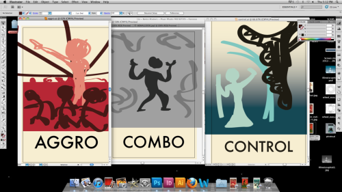 Just laying out the composition for the mtg posters. Wanted to go for a retro style for it. What do for combo?!?!?!