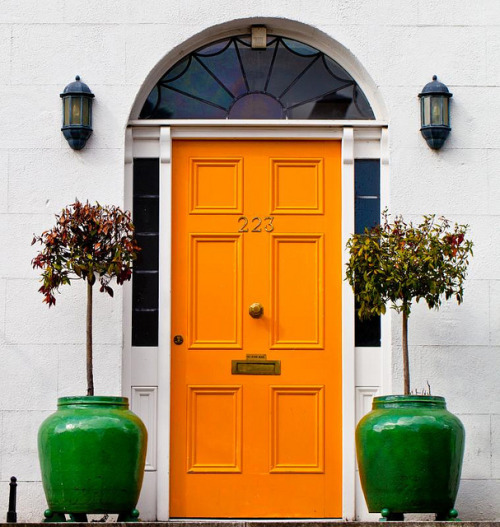 Yellow door by Steve-h on Flickr.