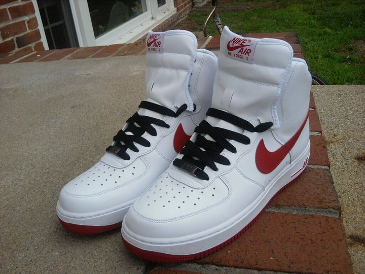 When i first copped my red and white high top air force ones <3 #TeamYungAzLaN