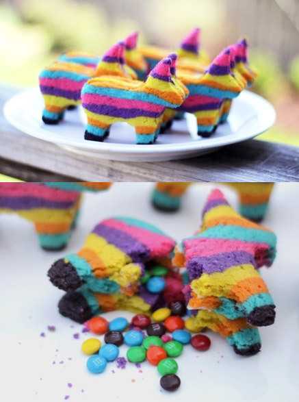 wildandpeaceful:  How to make Piñata cookies filled with M&M's