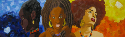 Black Women by ~TheRealIkeman This was a painting commissioned by an Aunt she wanted a piece, about the versatility of black women's hair.