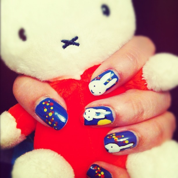 Miffy Nails (with Miffy this time)