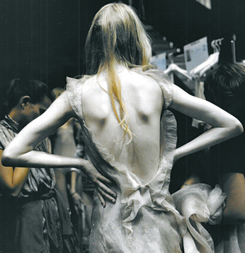 Backstage at Nina Ricci S/S 2009