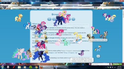This is why I probably shouldn't use the Browser Ponies.  How the hell am I supposed to choose just a few of them for a page!?