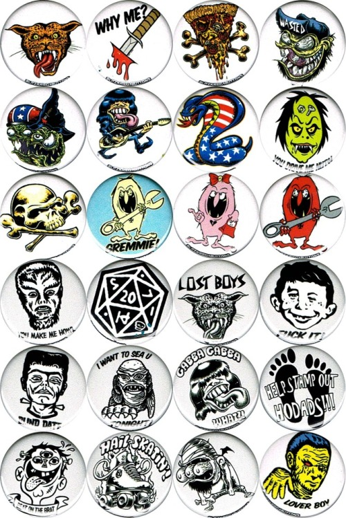 porkmagazine:  ROUND ONE OF THE DIRTY DONNY BUTTONS ARE COMPLETED! I'M SUPER STOKED TO HAVE DIRTY DONNY IN OUR BLITZKRIEG BUTTONS ROSTER & AS THE FIRST NON ME ARTIST WE'RE WORKING WITH. WE GOT THIS BIG MESS OF SCREWY SAYINGS & KOOKY KARAKTERS TO ADORN YOUR DENIM. GITTUM!!! MORE BUTTONS. LESS SQUARES. GITTUM.  REBLOG!!!  FUCK!! THAT AMERICA COBRA!!