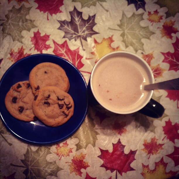 French vanilla coffee & Shaw's cookies while I wait for dinner :) (Taken with instagram)