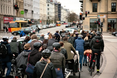 thegreenurbanist:  secretrepublic:  Rush Hour…  More enjoyable than if you were in a car.