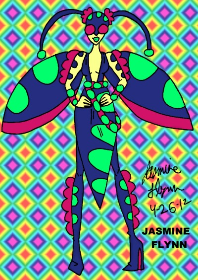 Fashion Bug. a traditional/digital drawing by me, Jasmine Flynn :)