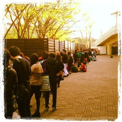 Gaga fans waiting for the Born This Way Ball (8:00 AM)  Credits: @Gagafrontnews.