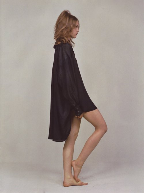 Sasha Pivovarova by William Selden for Dazed & Confused September 2005