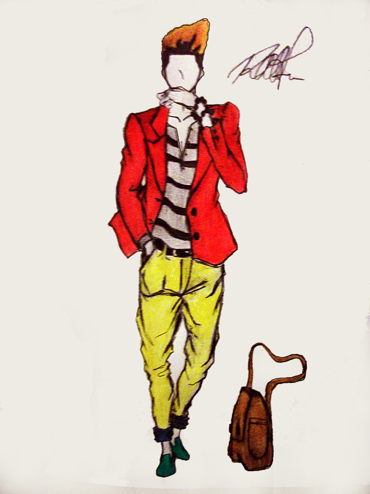 #My Latest Sketch. Check my blog out: http://raatfashion.tumblr.com/