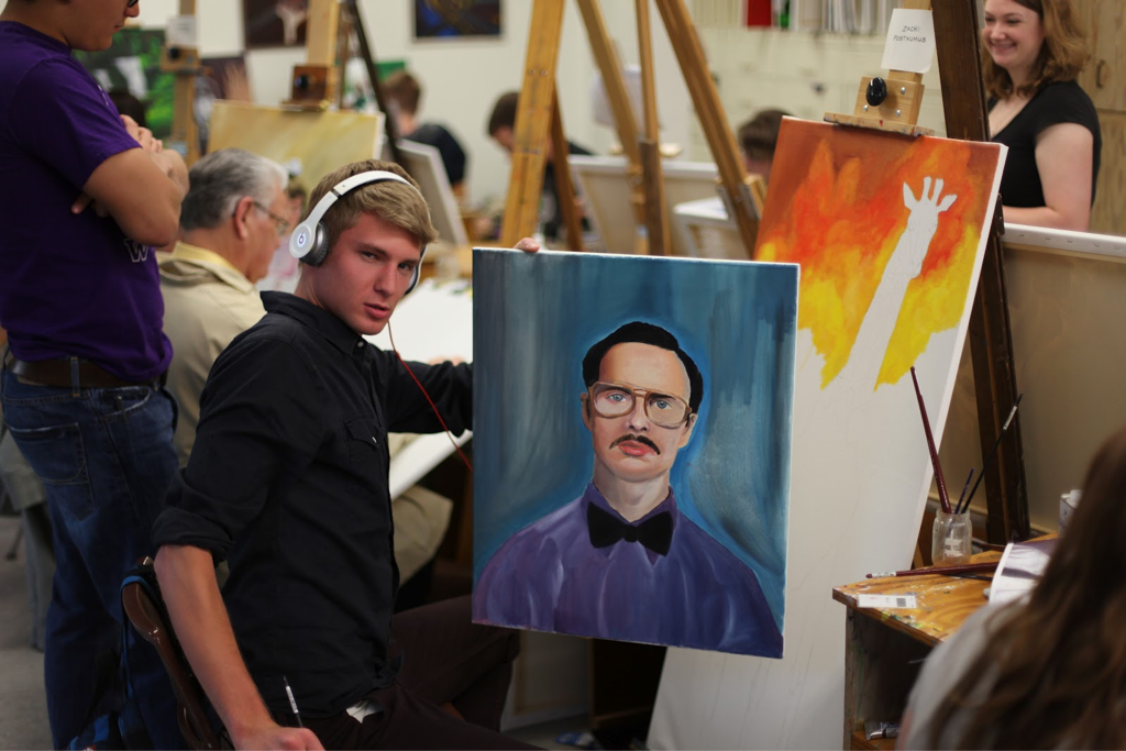 Painting Kip Dynamite he is one of my heroes.
