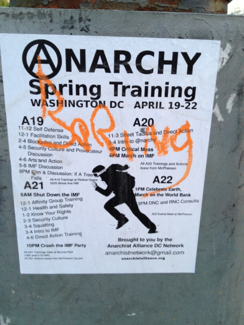 Aww man. I totally missed the anarchy spring training. *sadface*