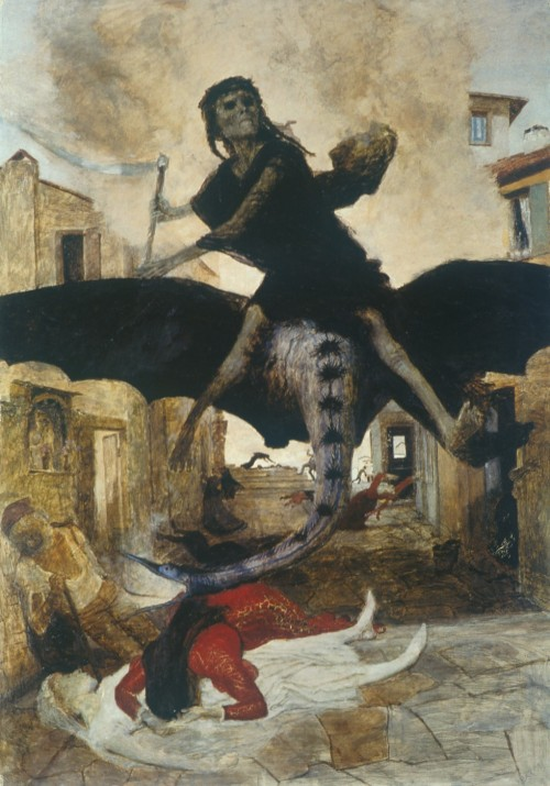 Plague 1898 Arnold Bocklin