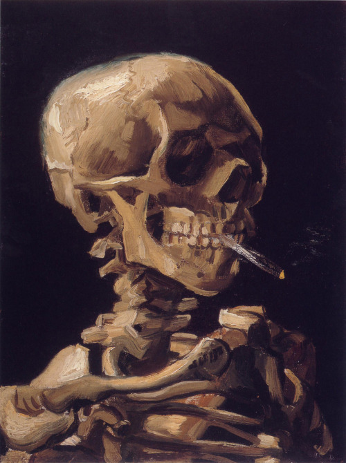 lolsk:  Skull of a Skeleton with Burning Cigarette, Van Gogh 1886