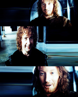 "l-o-t-r:   ""He [Pippin] knew now why Beregond spoke his [Faramir] name with love. He was a captain that men would follow, that he would follow, even under the shadow of the black wings.""  The Return of the King Chapter 4: The Siege of Gondor"
