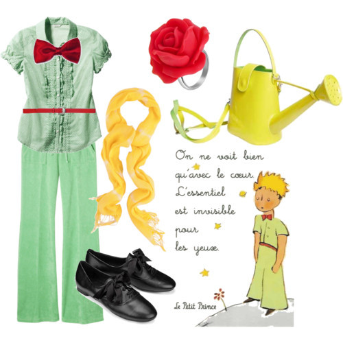 An adorable outfit set inspired by the 1943 book Le Petit Prince. (via Polyvore user ophelia-lives)