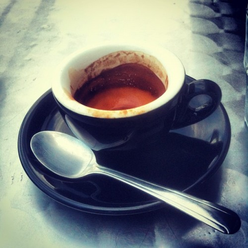 Drinking espresso while thinking about espresso…Counterculture La Forza #dope #CoffeeIsMyCrack  (Taken with Instagram at Houndstooth Coffee)