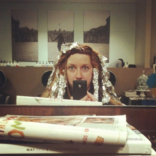 Foil monster #mousybrowns #hair (Taken with Instagram at Mousy Browns)