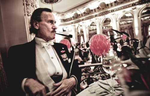 """Alan Z. Feuer at the Polish Ball at the Plaza in 2009. After a stay in England, he returned in 1968 with a British accent, a relative said.""  From fascinating NYT article.   Photo by Chris Maluszynski."
