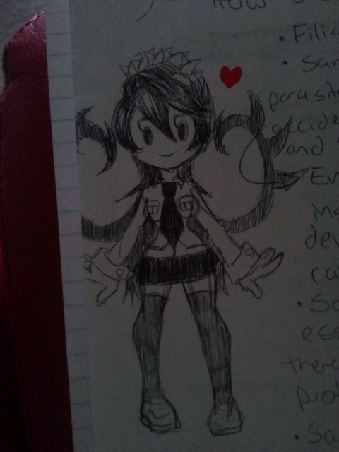 Filia doodle~ she even makes her way into my notes now :3