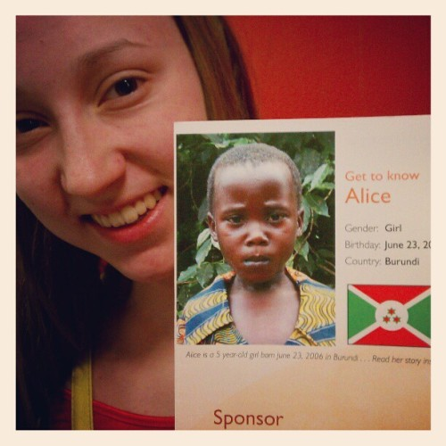 Meet Alice. We, @chasityyanne and I, are sponsoring her. #worldvision #fb (Taken with instagram)