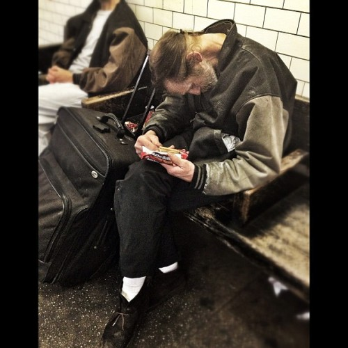 Asleep mid snack…today's #dailysleeper #nyc  (Taken with instagram)